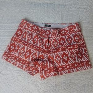 J.Crew red and white patterned shorts
